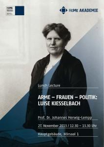 2013 plakat-lunchlecture-kieselbach_Druck web